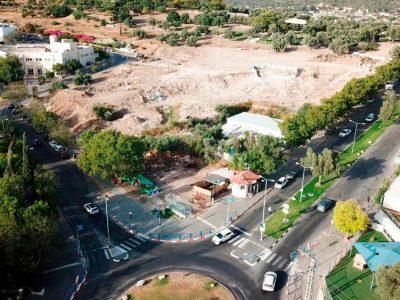 השטח עליו יוקם בניין העירייה העתידי