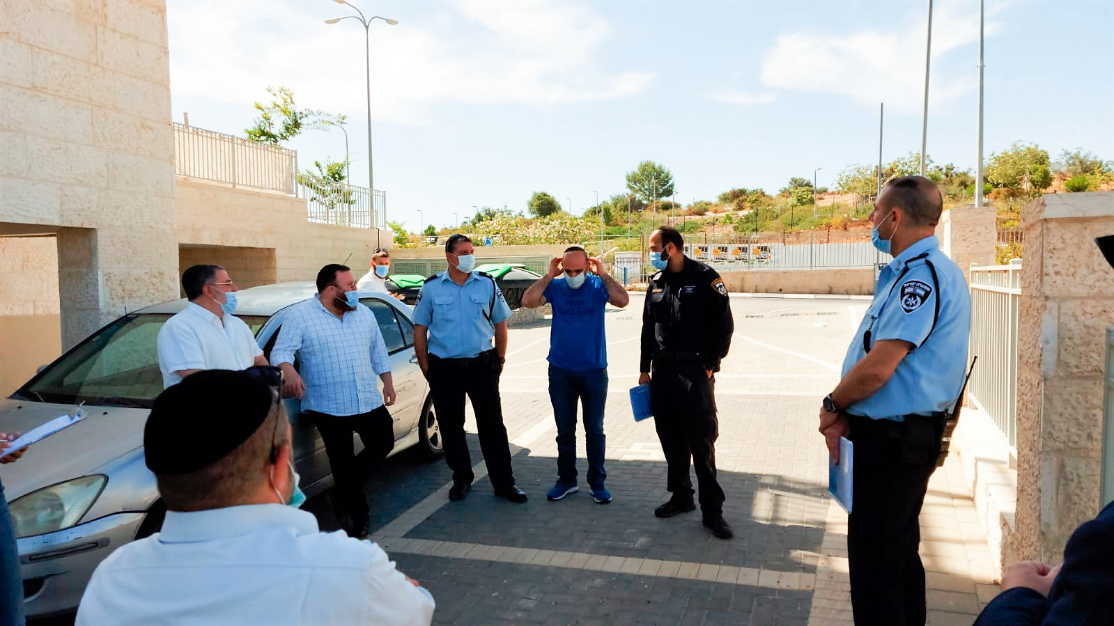 סיור בכירים ממשטרת בית שמש ברמה ג'