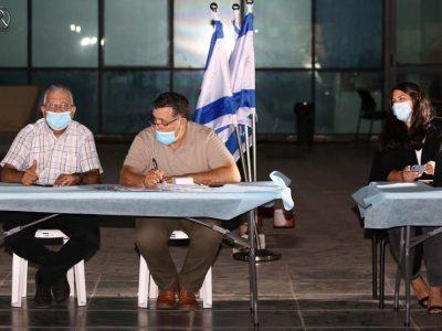 העוזרת האישית של ראש העיר סתיו סעד , ניסים כהן, דוד וקנין