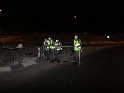 1 שוטרים מאיישים את המחסום ביציאה מרמה ג' לכביש 5
